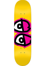 Krooked Krooked Team Evil Eyes Yellow Deck - 8.25 x 32