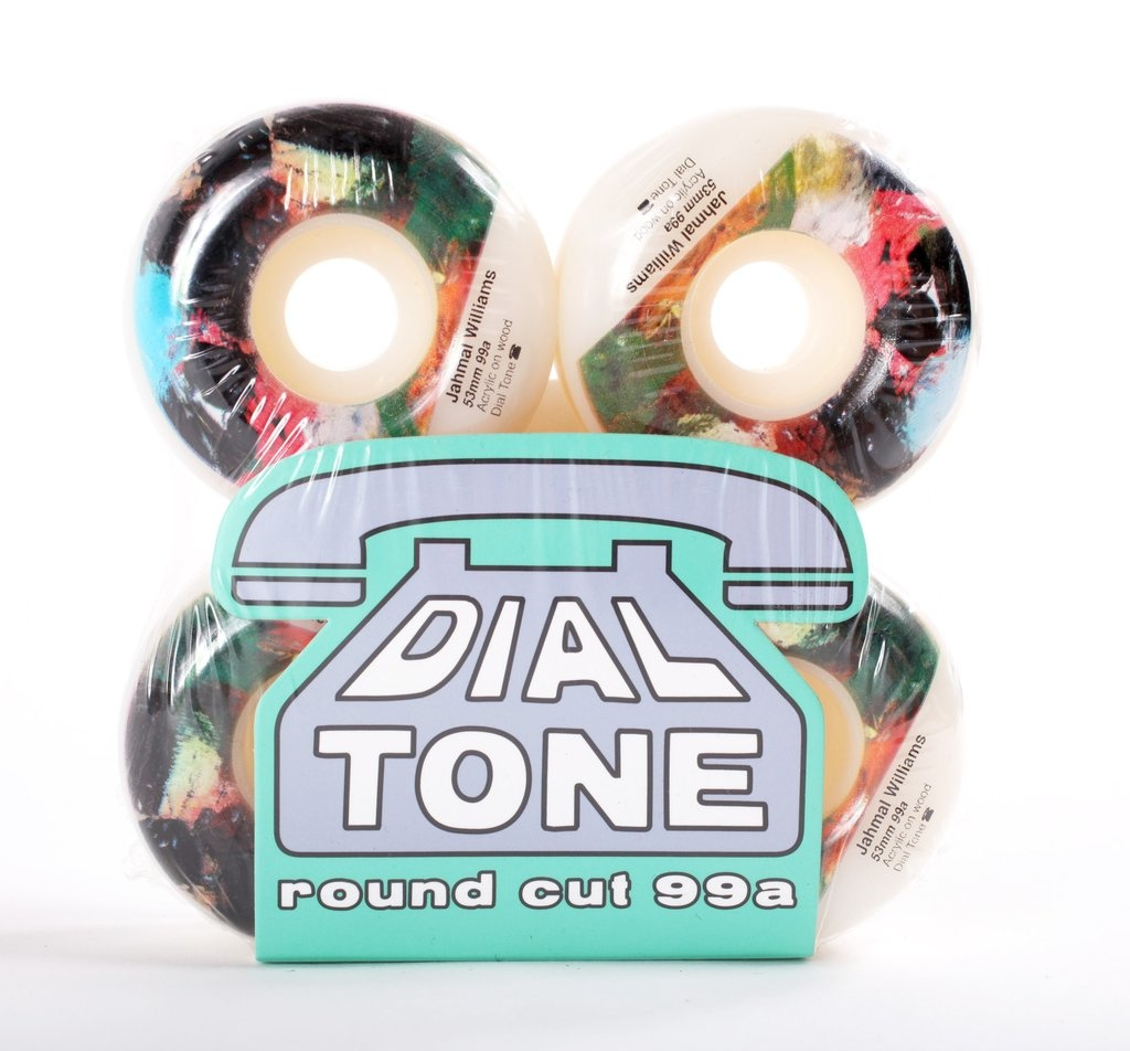 Dial Tone Wheel Co. Dial Tone Williams Abstract #2 Round Cut 54mm 99a Wheels (set of 4)