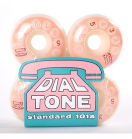 Dial Tone Wheel Co. Dial Tone Rotary Classic Standard 53mm 101 Peach Wheels (set of 4)