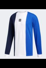 Adidas Adidas Tripart Longsleeve T-shirt - Navy/White/Royal (size X-Large)
