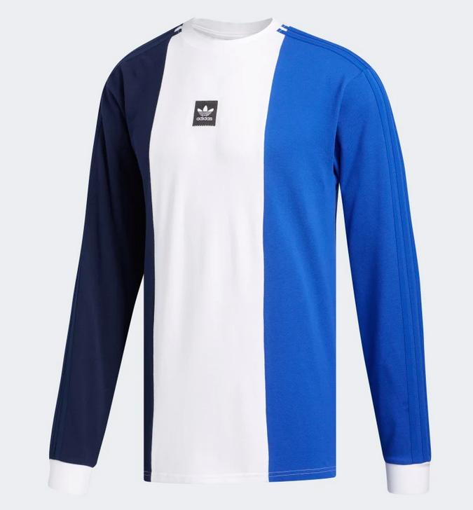 Adidas Adidas Tripart Longsleeve T-shirt - Navy/White/Royal