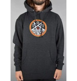 Cliche 101 Natas Devil Worship Hoodie - Charcoal Heather (size Small)