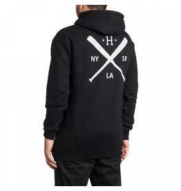 Huf Worldwide Huf Strike Out Pullover Hoodie - Black (size Small)