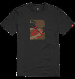 éS èS Main Block camo T-Shirt - Black
