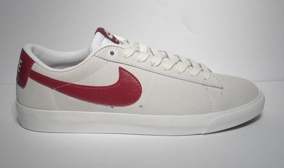 Red Shoes Skate Blazer GT Nike SB WhiteTeam Low 2H9DYEIW