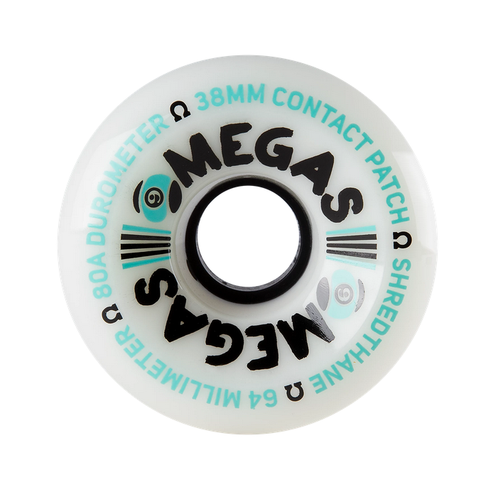 Sector 9 Sector 9 Omega White 64mm 80a Wheels (set of 4)