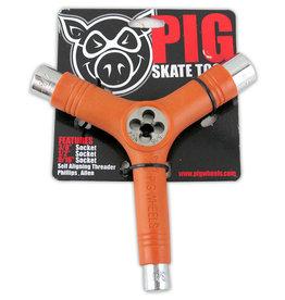 Pig Pig Tri-Socket Threader Skate Tool - Orange