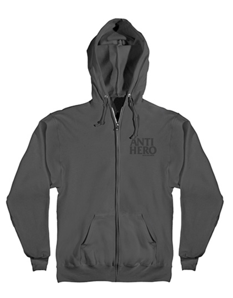 Anti-Hero Anti-Hero Lil Blackhero Zip-up Hoodie - Charcoal