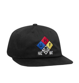 Huf Worldwide Huf Hazard 6 Panel Hat - Black