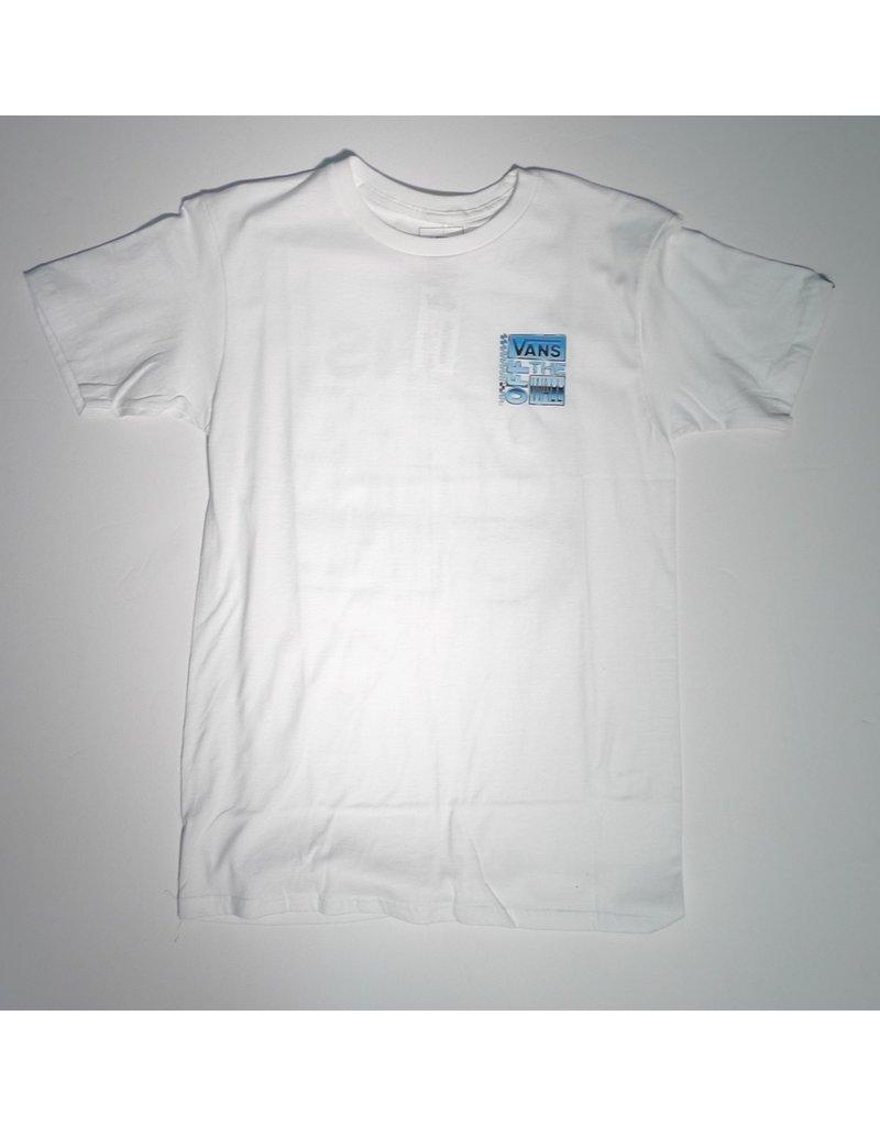 Vans Vans AVE Chrome T-shirt - White  (size Medium)