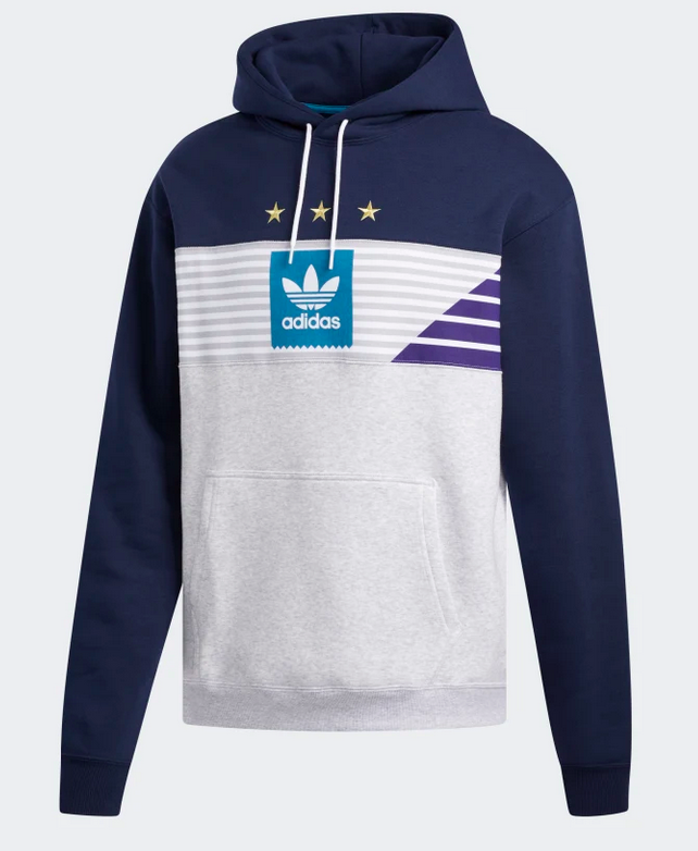 Adidas Adidas Elevated TRI Hoodie - Navy/Pale Melange/Active Teal