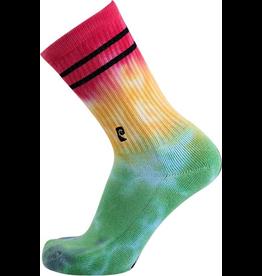 Psockadelic Psockadelic Tie Dye Green/Yellow/Red Socks