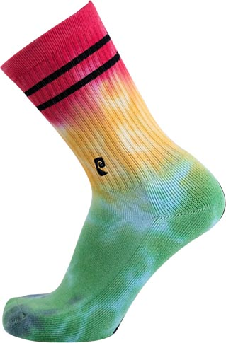 Psockadelic Psockadelic Tie Dye Green/Yellow/Red Socks