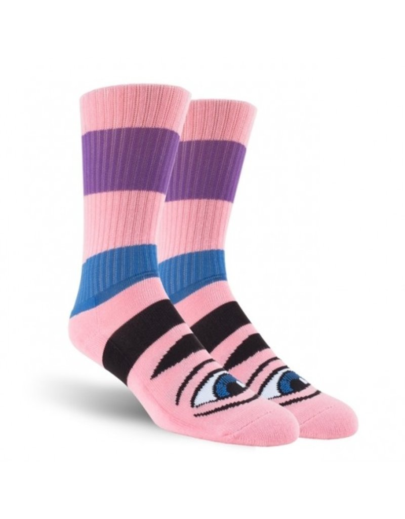 Toy Machine Toy Machine Sect Eye Big Stripe Socks - Pink