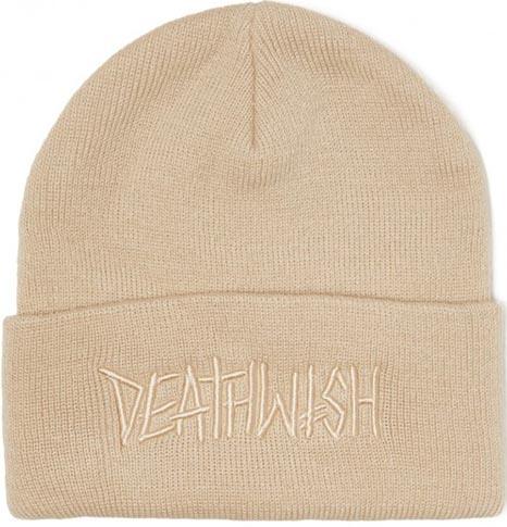 Deathwish Deathwish Deathspray Cuff Beanie - Cream