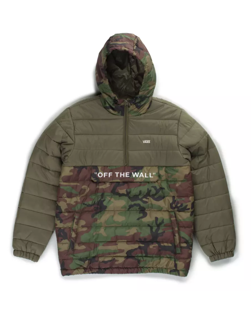 Vans Vans Carlon Anorak Packable Puffer Jacket - Camo/Grape Leaf (size Large or X-Large)