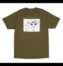 GX1000 GX1000 Fuck Pizza T-shirt - Military Green