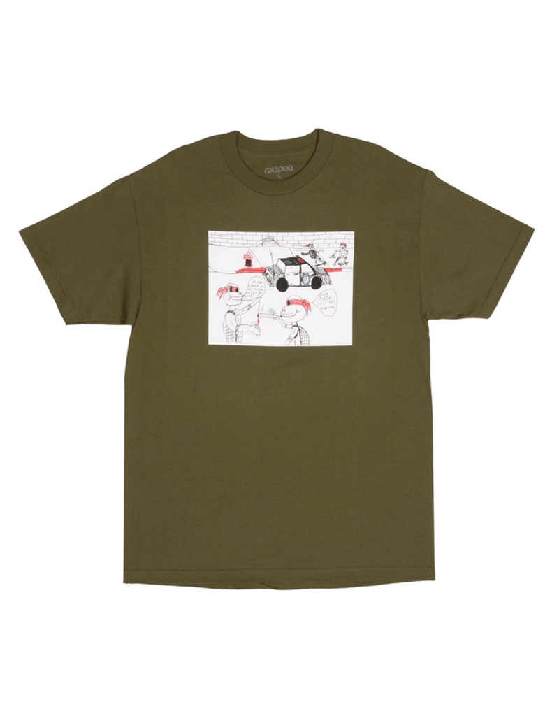 GX1000 GX1000 Fuck Pizza T-shirt - Military Green