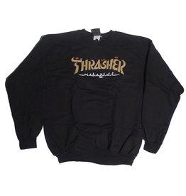 Thrasher Mag Thrasher Calligraphy Crewneck - Black (size X-Large)