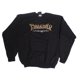 Thrasher Mag Thrasher Calligraphy Crewneck - Black