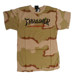 Thrasher Mag Thrasher Calligraphy T-shirt - Desert Camo