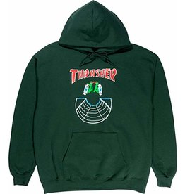 Thrasher Mag Thrasher Doubles Hoodie - Forest Green (size Small or Large)