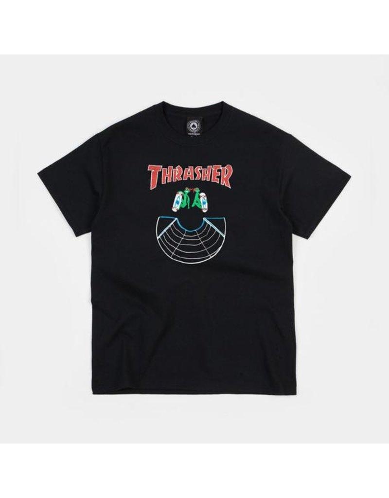 Thrasher Mag Thrasher Doubles T-Shirt - Black (size Medium or X-Large)