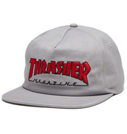 Thrasher Mag Thrasher Outlined Snapback Hat - Gray/Red