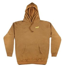 Snack Snack Alive Embroidered Hoodie - Tan (Large)