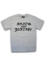 Thrasher Mag Thrasher Skate and Destroy T-shirt - Heather Grey