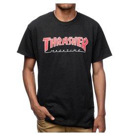 Thrasher Mag Thrasher Skate Mag Outlined T-shirt - Black/Red
