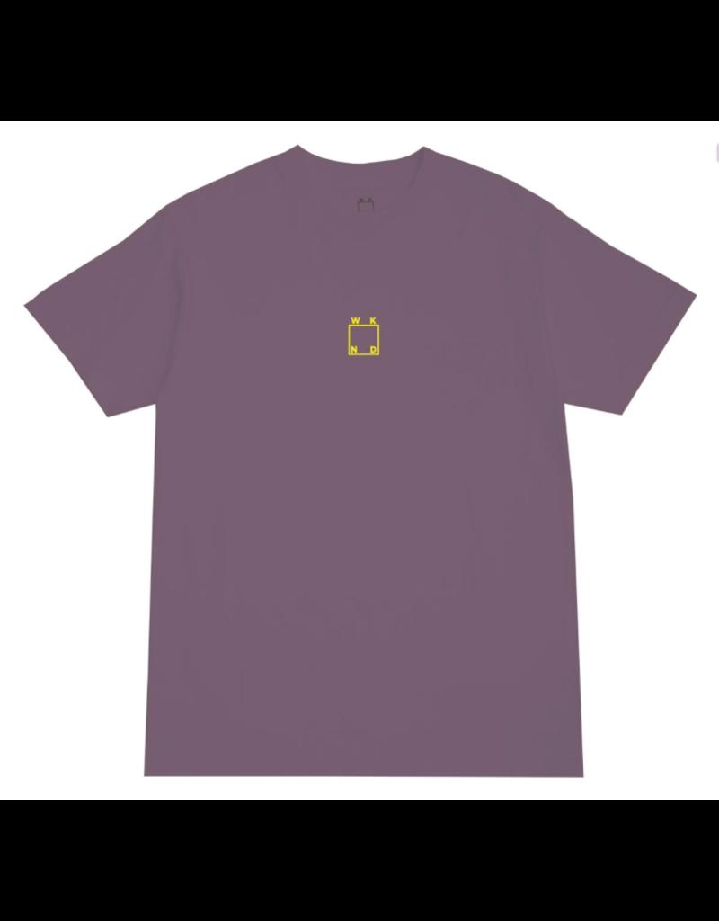 WKND brand WKND Logo Pigment Dye T-shirt - Wine Purple (size X-Large)