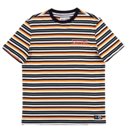 Welcome Welcome Surf Stripe Knit T-shirt - Sunrise