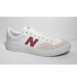 New Balance Numeric NB Numeric 212 - White/Burgundy (size 7)