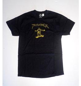 Thrasher Mag Thrasher Gonz T-shirt - Black/Yellow