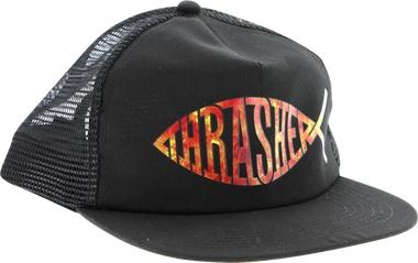 Thrasher Mag Thrasher Fish Mesh Hat - Black