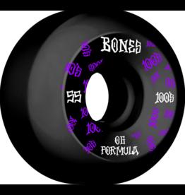 Bones Wheels Bones 100s OG #3 Black V5 55mm (Set of 4)