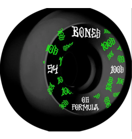 Bones Wheels Bones 100s OG #3 Black V5 54mm (Set of 4)