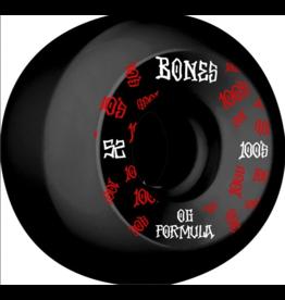 Bones Wheels Bones 100s OG #3 Black V5 52mm (Set of 4)