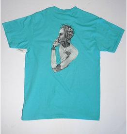 Fucking Awesome Fucking Awesome Cyborg T-shirt - Lagoon Blue (size medium)