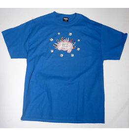 Hockey Hockey Intelligence T-shirt - Royal (size X-Large)
