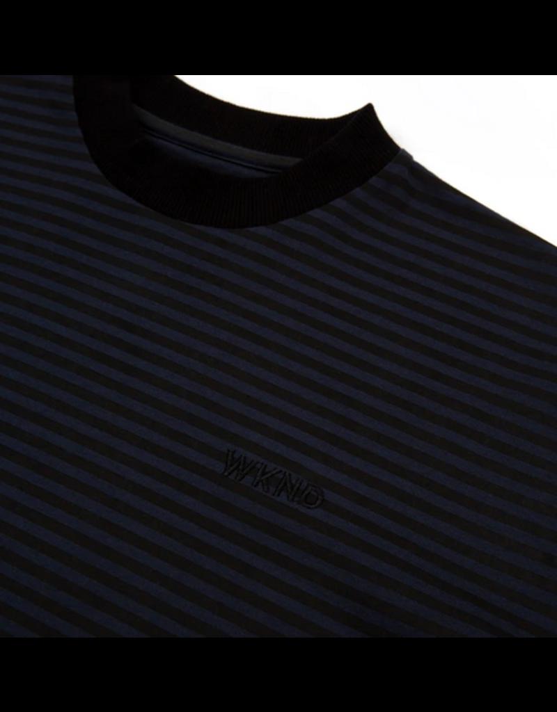 WKND brand WKND Stripe T-shirt - Black/Navy (size Medium)