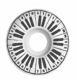 Dial Tone Wheel Co. Dial Tone Trahan Piano Man Round Cut 53mm 99a Wheels (set of 4)
