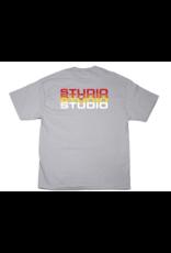 Studio Studio Fade T-shirt - Silver (size Large)