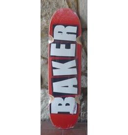 Baker Baker Team Brand Logo White Cruiser Deck - 8.5 (Wheel Wells)