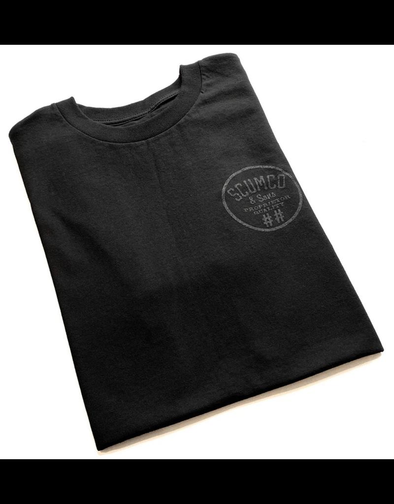 Scumco & Sons Scumco & Sons Logo Shirt- Black/Black (size Medium)