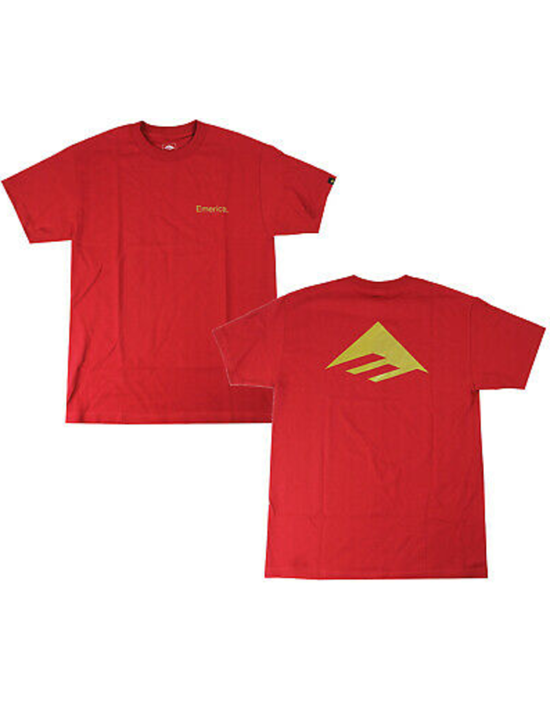 Emerica Emerica Pure Triangle T-Shirt - Cardinal (size Medium or Large)