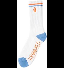 Krooked Krooked Shmoo Sock - White/Blue/Orange