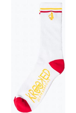 Krooked Krooked Shmoo Socks - White/Red/Yellow