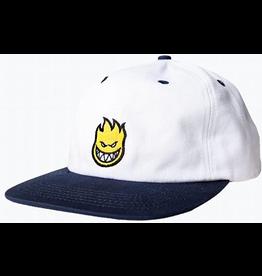 Spitfire Spitfire Bighead Fill Snapback Hat - White/Yellow/Navy